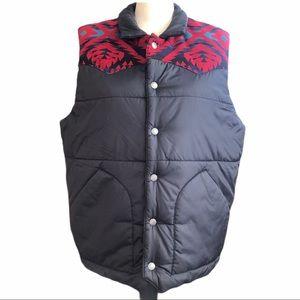 Pendleton wool yoke puffer vest